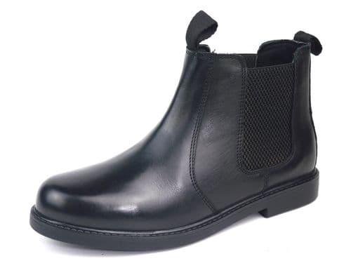 Frank James - Chester JUNIOR Black Chelsea Boots